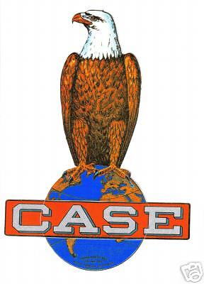 Case Eagle Tractor Vinyl Sticker 9""