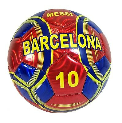 New BARCELONA Lionel Messi Football Soccer Ball Sporting Goods Official Size 5