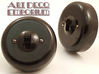 Rolls Vintage Bakelite Toggle Light Switch 1Way 1Gang Restored