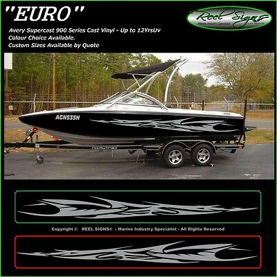 "Boat Graphics Decal Sticker Kit ""euro -2400""  Marine Cast Vinyl"