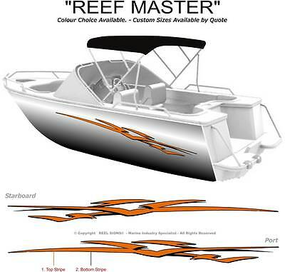 "Boat Graphics Decal Sticker Kit ""reef Master -1800""  Marine Cast Vinyl"