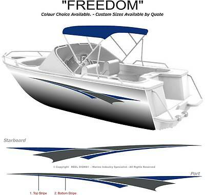 "Boat Graphics Decal Sticker Kit ""freedom -1800"" Marine Cast Vinyl"