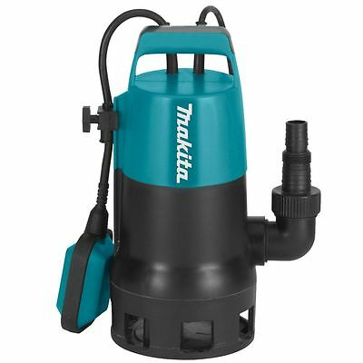 Makita PF0410 Submersible Dirty Clean Water Pump Flood Pool Pond + Float 240v