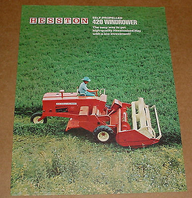OLD HESSTON 420 Windrower Brochure