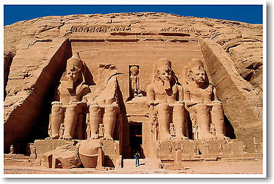 Ancient Egypt - Abu Simbel - Egyptian Artifacts Pyramids Statues - NEW POSTER