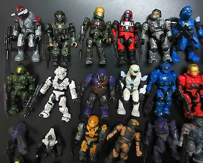 LOT OF 8  Halo Mega Bloks  SOLDIER FIGURES ( by random )  w gun stand  #fs3