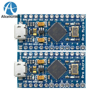2PCS Leonardo Pro Micro ATmega32U4 for Arduino IDE Bootloader Replace Pro Mini