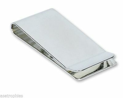 Silver Plated Money Clip Personalised FREE ENGRAVING MC7