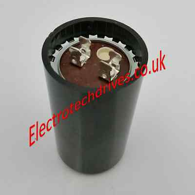 Motor start capacitors 50uf to 408uf mfd 250vac with spade terminals