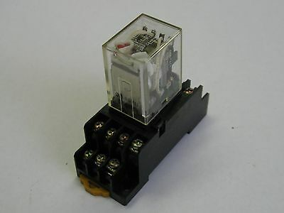 Omron Cube Relay MY4N, With Various Bases, 24VDC, Used, Warranty