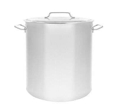 New 100 Qt Quart Polished Stainless Steel Stock Pot Brewing Kettle Large W Lid
