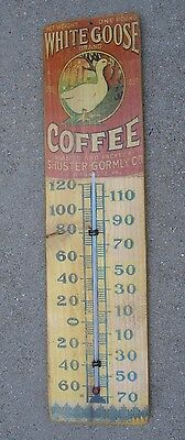 wood reproduction thermometer White Goose Coffee