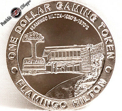 "$1 SLOT TOKEN COIN FLAMINGO HILTON CASINO ""1960s-1970s"" 50th 1996 GDC LAS VEGAS"
