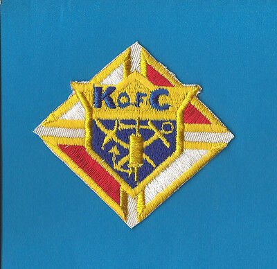 Vintage 1960's Knights of Columbus Sew On Uniform Jacket Patch Crest