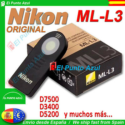 Remote Nikon Ml-L3 Originale Genuine★D3400 D7500 D750 D3300 D3200 D600 P7100