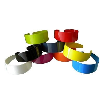 Wide Hard Headbands Vibrant Colorful Girls 2 Inch Hair Band Accessories w/ Teeth