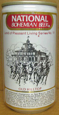 NATIONAL BOHEMIAN BEER Can No11 OLD HILLTOP Baltimore MARYLAND Horse Racing 1/1+