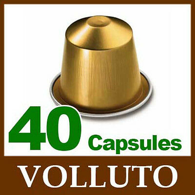 40 VOLLUTO Capsules Nespresso Coffee *BRAND NEW ~ FRESH SEALED*