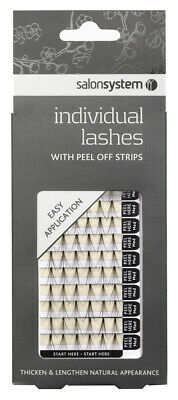 Salon System Individual Medium Ultra  Lashes Peel Off Strips Easy Application