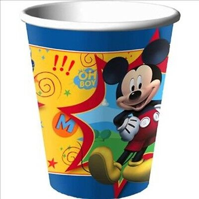 8 Disney Mickey Mouse Childrens Birthday Party 9oz Paper Cups