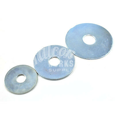 M5 M6 M8 M10 M12 Zinc Repair Penny Mudguard Washers All Diameters 10 Pack Sizes