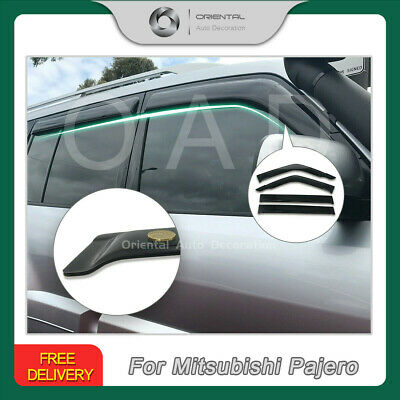 Premium Weathershields Weather Shields Window Visors Mitsubishi Pajero 00-19 (T)