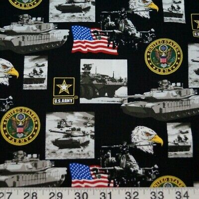 Huge Sale Military U.S Army American Flag Tank 100% Cotton Patchwork Fabric