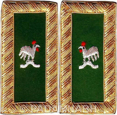 Knight Templar Captain General Shoulder Board Pair Hand Embroidered (Sb-012)