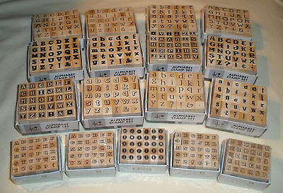 NEW Studio G  ALPHABET STAMP SETS - 28 Different - Upper & Lower Case - You Pick