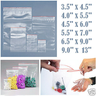 Grip Seal Bags Self Seal Clear Resealable Polythene Plastic Bags Popular Sizes