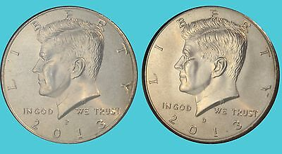 2013 Kennedy Half Dollars P&d Set Uncirculated From Mint Rolls