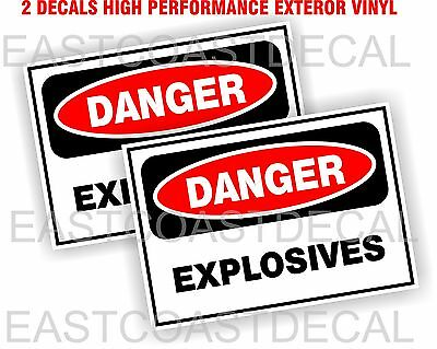 2 Danger Explosives Safety OSHA Business Decals sign Sticker Labels Exterior Use