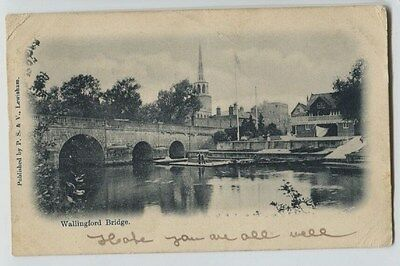 1903 Wallingford Bridge Oxfordshire England Postcard