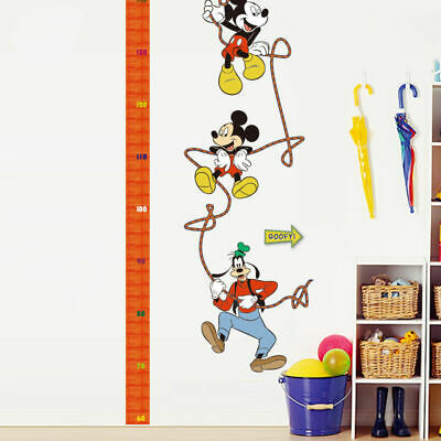 Mickey Mouse Goofy Growth Height Chart Removable Wall Stickers Kids Art Mural