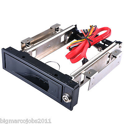 """5.25"""" HDD-ROM Mobile Rack Hot Swap for 3.5"""" Sata Hard Disk Drive HDD UK"""