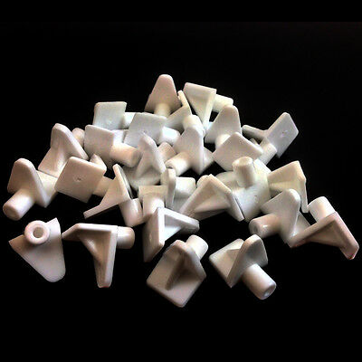 WHITE PLASTIC 5mm (M5) SHELF SUPPORT STUD PEGS KITCHEN CABINETS PLUG IN