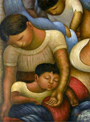 Diego Rivera Mother and Child Oil Painting Repro 36x48