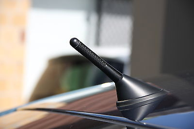 Antenna / Aerial Stubby Bee Sting Mazda Bt50 Bt-50 - Black Carbon