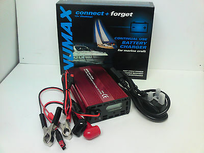 Numax 12V 10A Fully Automatic Intelligent connect forget Marine Battery Charger
