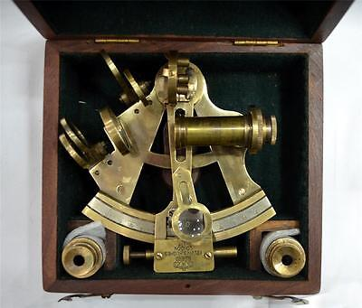 Vintage Sextant Replica Wooden Box telescope Nautical Gift Maritime Marine decor
