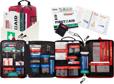 Survival First Aid KIT + Wall mount + Emergency first aid handbook