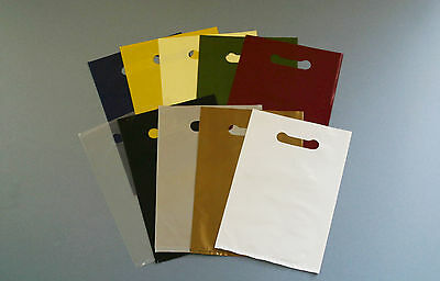 "Coloured Punched Hole Carrier Bags (8"" x 12"")"