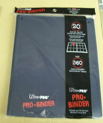 Lot of 2 Ultra Pro 9 Pocket Dark Blue Pro-Binder hold 360 Magic cards in sleeves