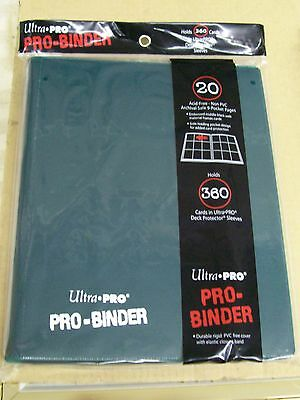 Lot of 2 Ultra Pro 9 Pocket Dark Green Pro-Binder holds 360 Magic cards sleeves