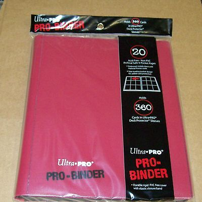 Lot of 2 Ultra Pro 9 Pocket Red Pro-Binder holds 360 Magic cards in sleeves