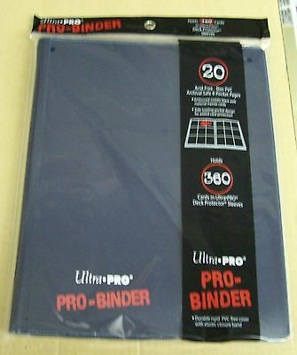 Ultra Pro 9 Pocket Dark Blue Pro-Binder holds 360 Magic Pokemon cards in sleeves