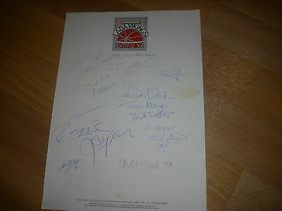 WARRINGTON  Lada Vikings  Basketball Original Hand SIGNED A4 Letter Head Page