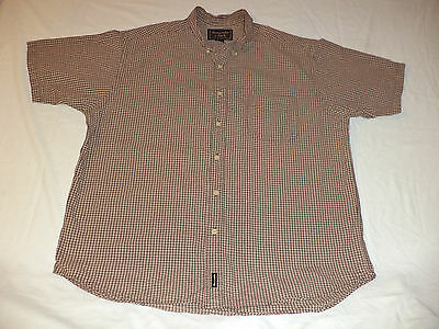 Abercrombie & Fitch S/s Multi-Colored Check Button Front Shirt Large      K#3037