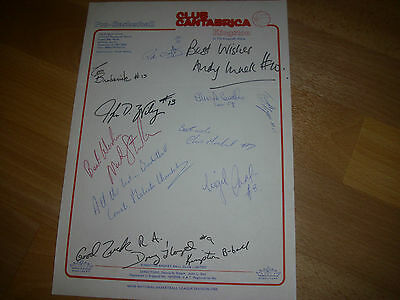 KINGSTON  Club Cantabrica  Basketball Original Hand SIGNED A4 Letter Head Page
