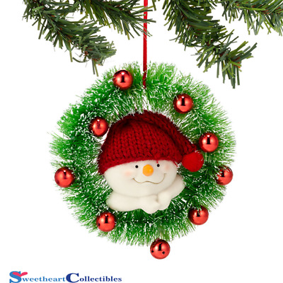 Department 56 Snowpinion Snowman In Wreath Ornament 2013
